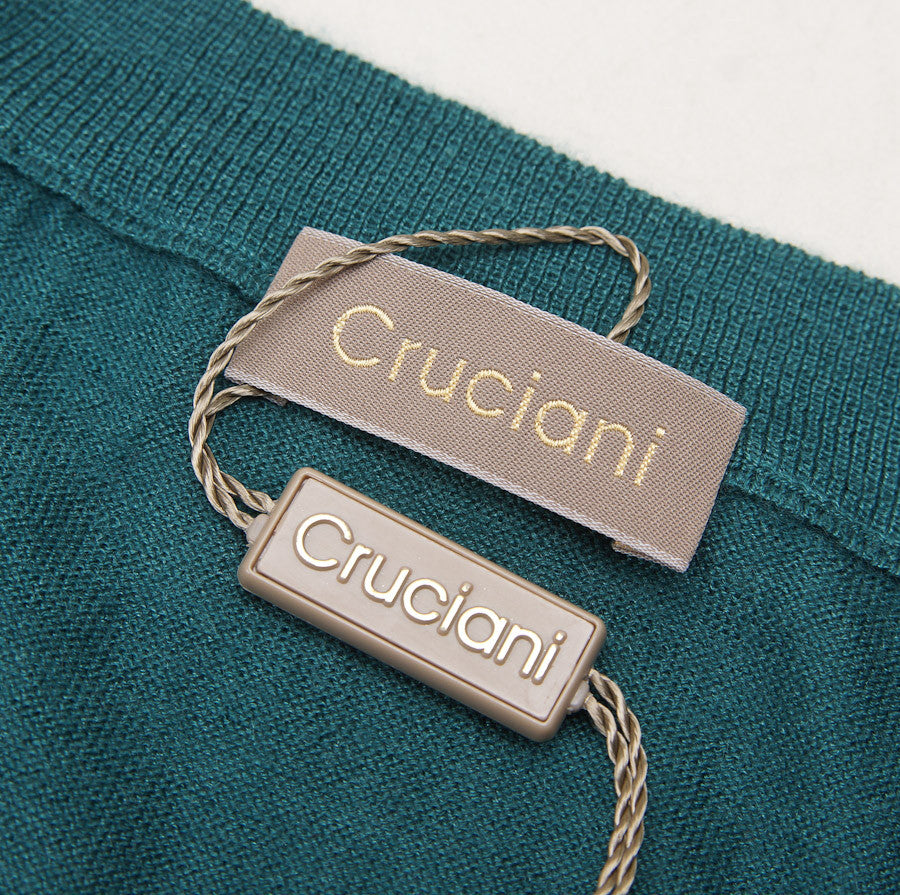 Cruciani Lightweight Emerald Cashmere-Silk Sweater - Top Shelf Apparel - 3