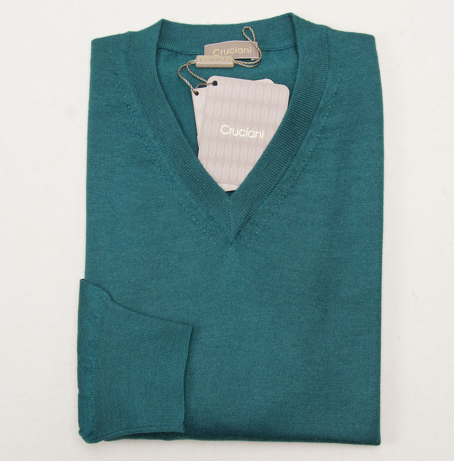 Cruciani Lightweight Emerald Cashmere-Silk Sweater - Top Shelf Apparel - 1