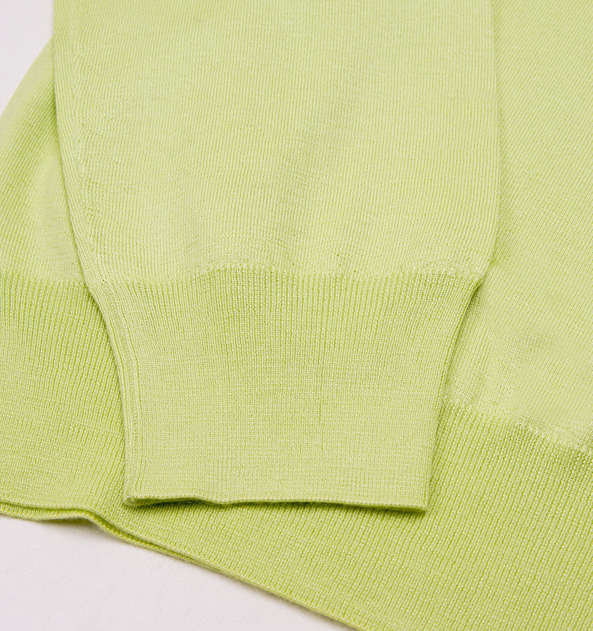 Cruciani Lightweight Lime Cashmere-Silk Sweater - Top Shelf Apparel - 2