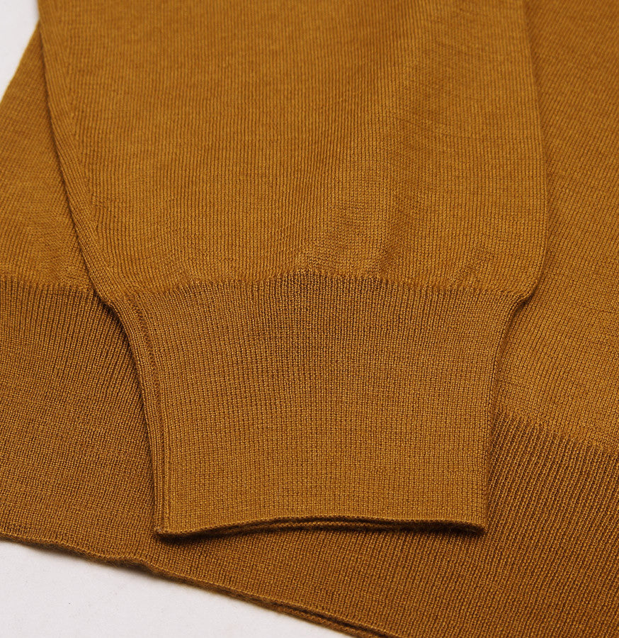Cruciani Lightweight Ochre Cashmere-Silk Sweater - Top Shelf Apparel
