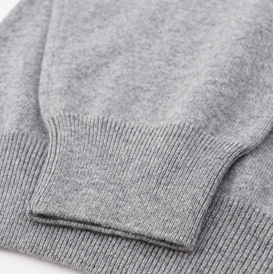 Cruciani Light Gray V-Neck Cashmere Sweater