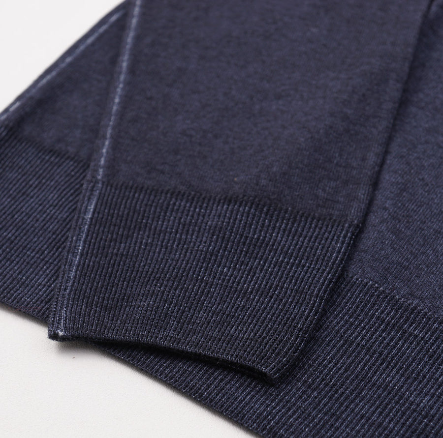 Cruciani Dark Blue Garment-Dyed Wool Sweater