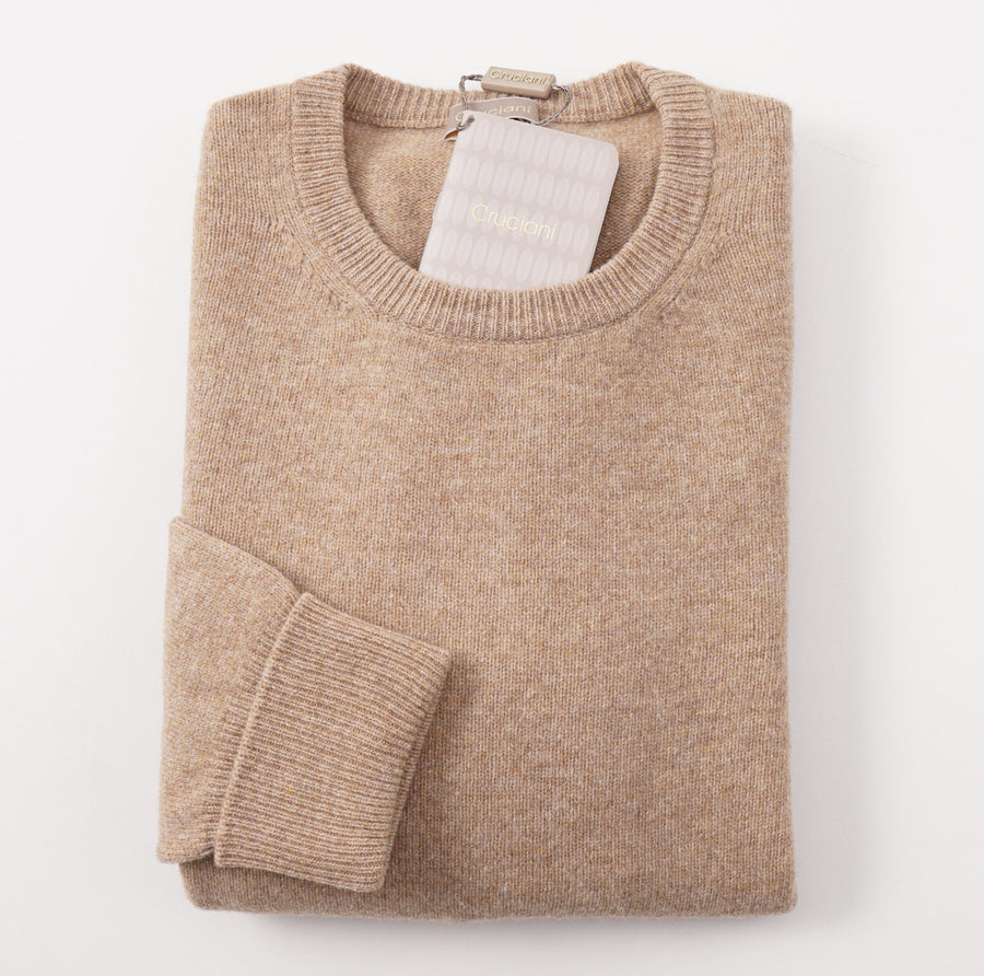 Cruciani Wool Sweater with Leather Elbow Patches - Top Shelf Apparel