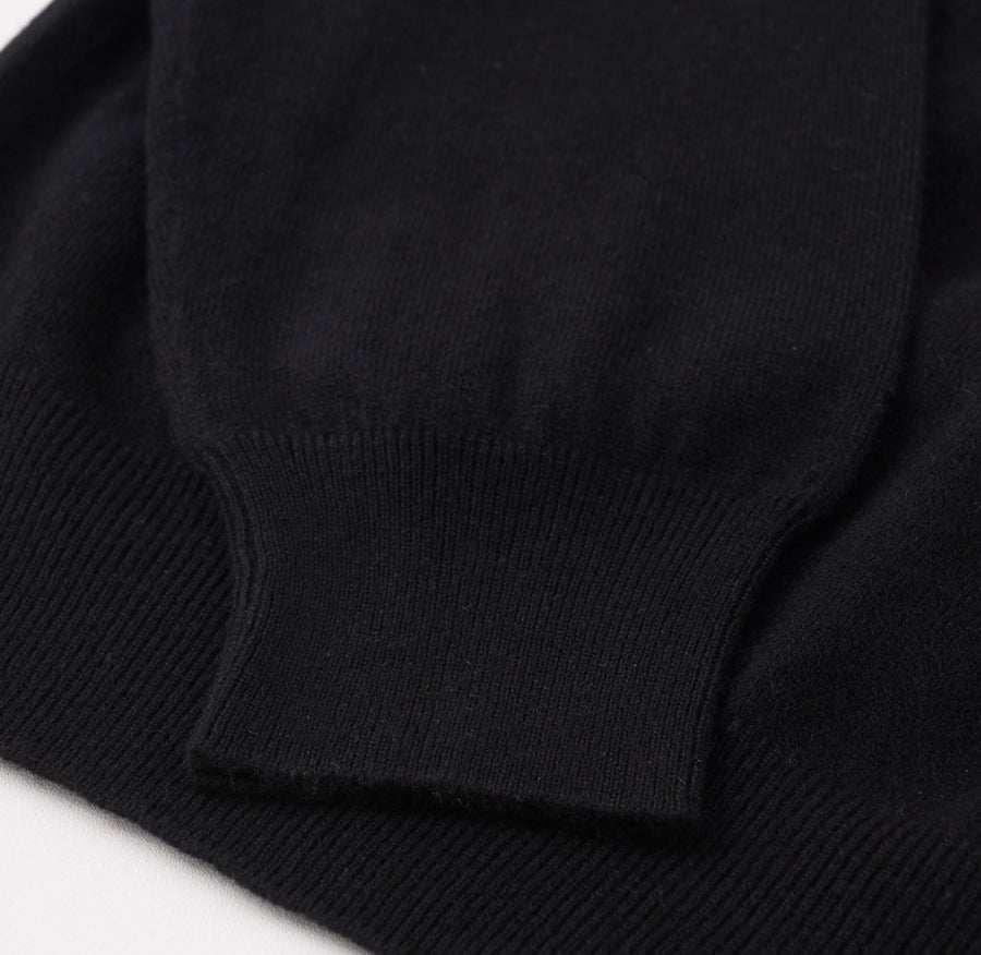 Cruciani Cashmere V-Neck Sweater in Black