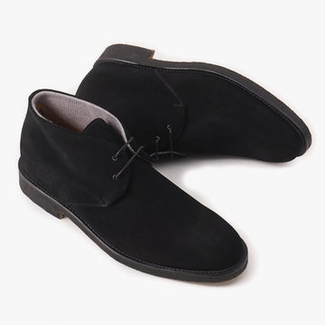 Di Mella Cashmere-Lined Suede Chukka Boot