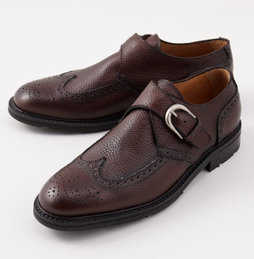 Di Mella Grained Leather Monk Strap - Top Shelf Apparel