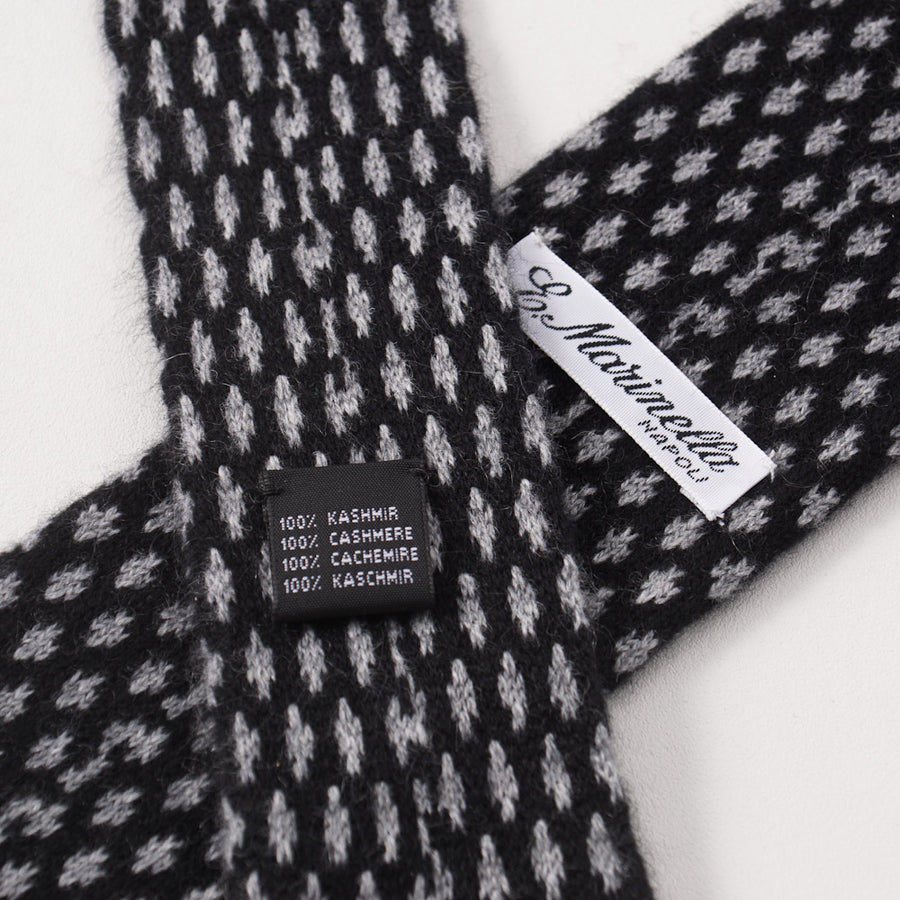 E. Marinella Black and Gray Knit Cashmere Tie