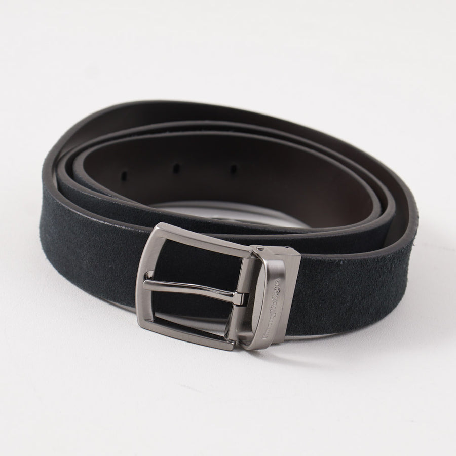 Ermenegildo Zegna Reversible Leather Belt in Navy and Brown - Top Shelf Apparel