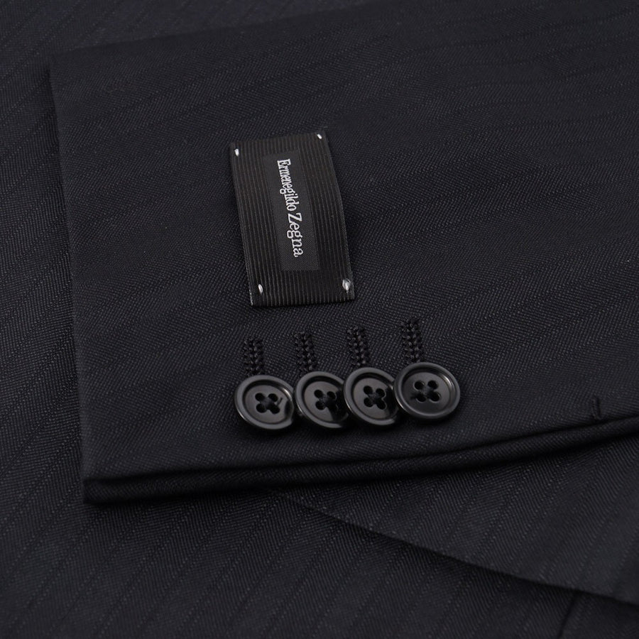 Ermenegildo Zegna Dark Gray Striped Wool Suit