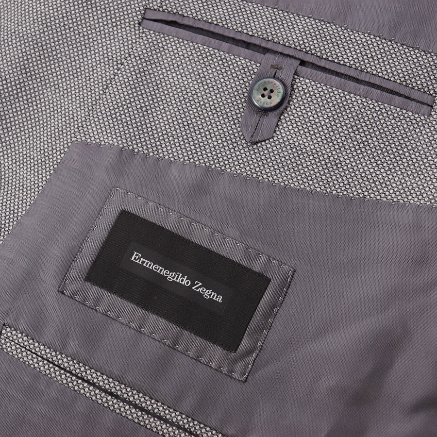 Ermenegildo Zegna 10 Pockets Travel Jacket in Light Gray Wool