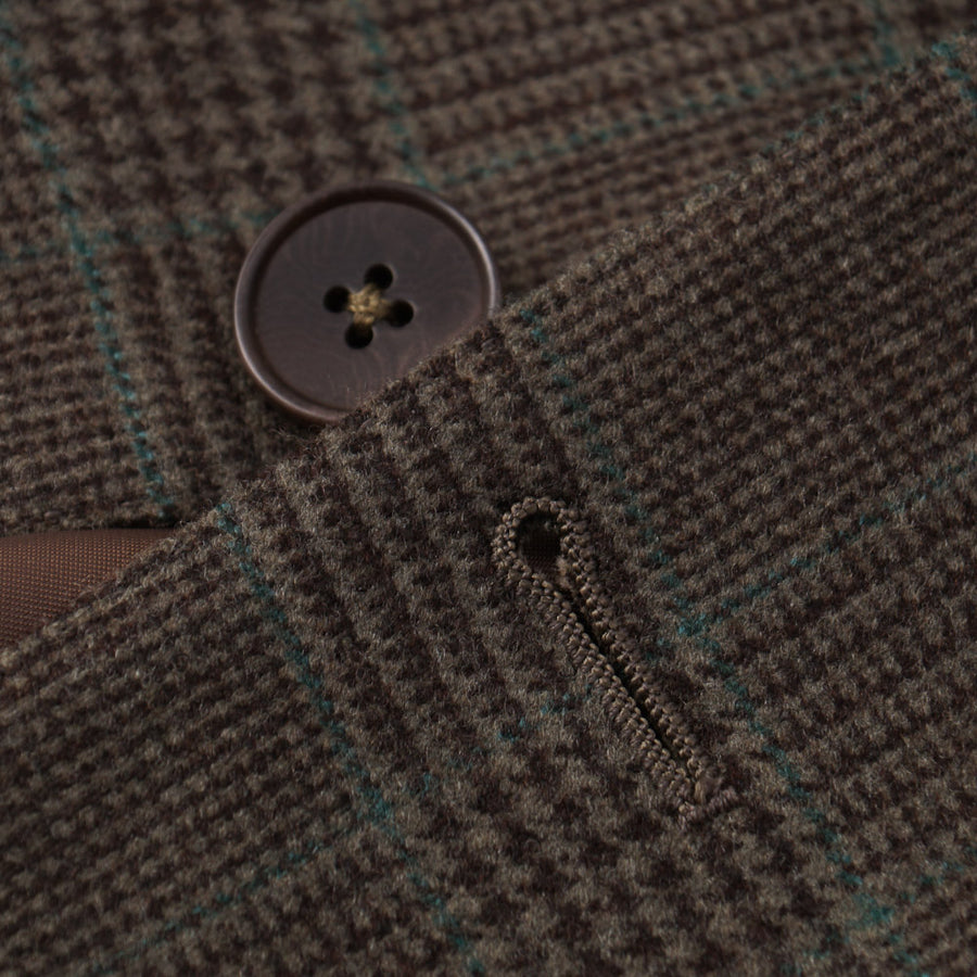 Ermenegildo Zegna Olive Glen Plaid Sport Coat