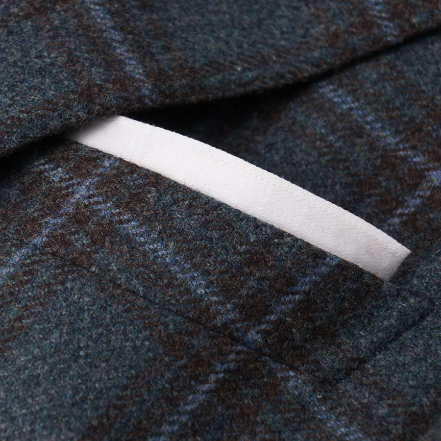 Ermenegildo Zegna Windowpane Flannel Wool Sport Coat