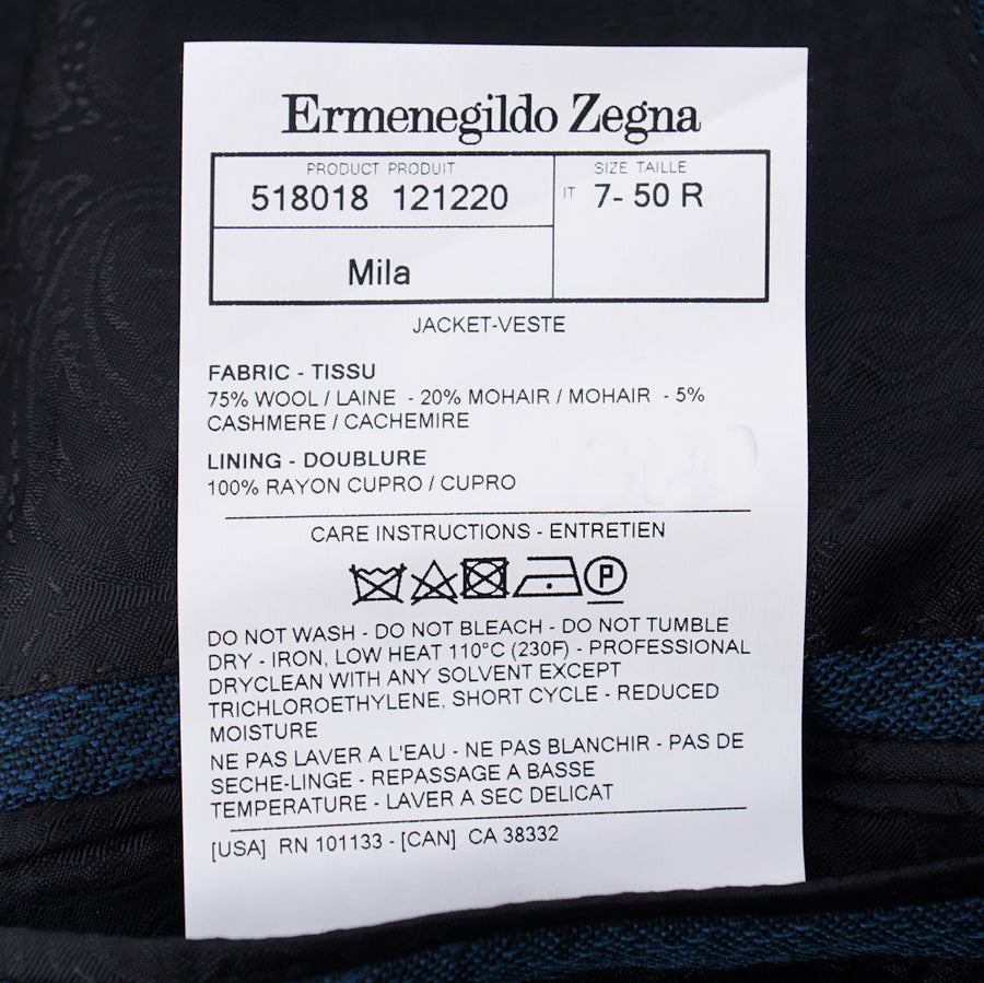 Ermenegildo Zegna Blue-Green Patterned Sport Coat - Top Shelf Apparel