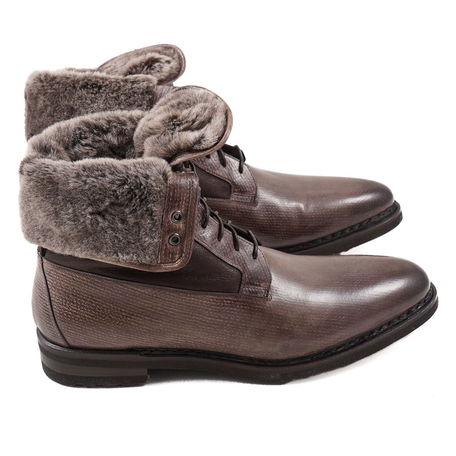 Santoni Ankle Boots with Shearling Lining