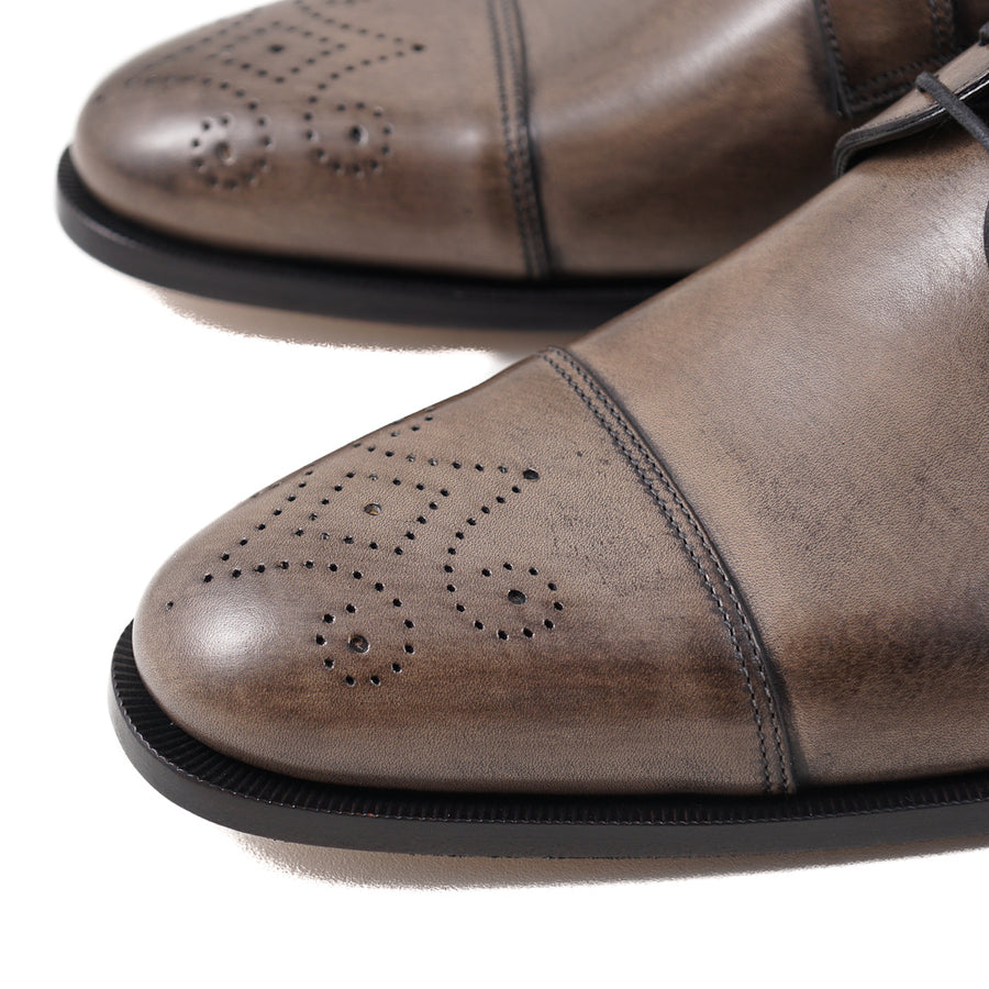 Canali Antiqued Gray Derby