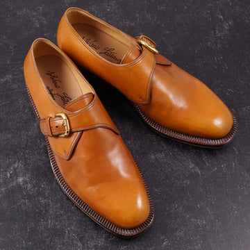 Silvano Lattanzi Monk Strap in Whiskey Tan - Top Shelf Apparel