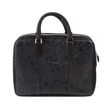 Santoni Camouflage Effect Leather Overnight Bag
