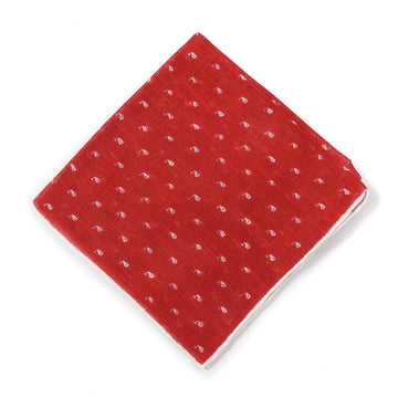 Isaia Printed Linen Pocket Square - Top Shelf Apparel