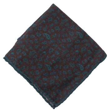 Isaia Printed Wool Pocket Square - Top Shelf Apparel