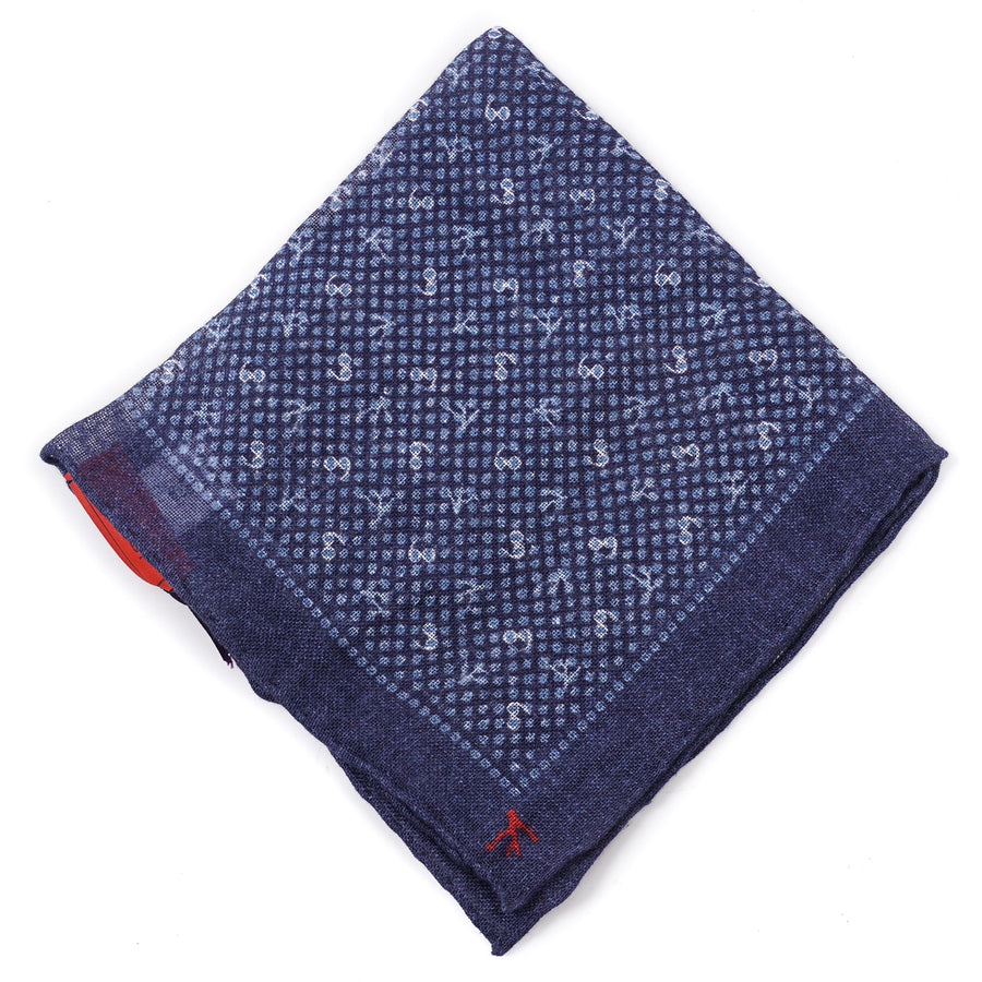Isaia Coral Branch Print Linen Pocket Square - Top Shelf Apparel