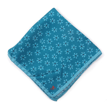 Isaia Floral Print Silk Pocket Square - Top Shelf Apparel