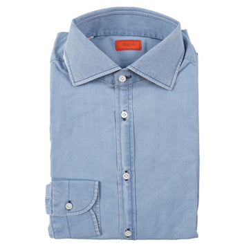Isaia Modern 'Mix Fit' Chambray Cotton Shirt - Top Shelf Apparel