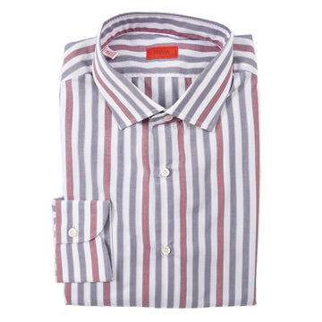 Isaia Slim-Fit Striped Cotton Dress Shirt - Top Shelf Apparel
