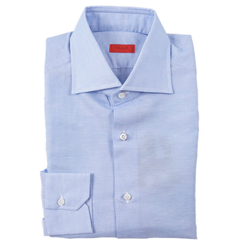 Isaia Lightweight Superfine Cotton-Linen Shirt - Top Shelf Apparel