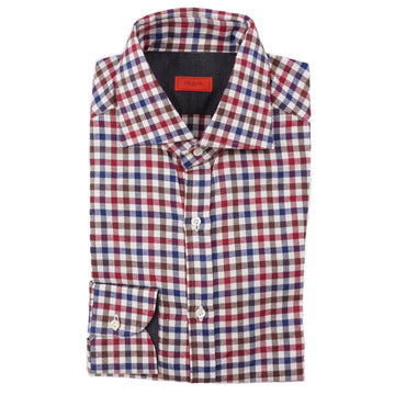 Isaia Modern 'Mix Fit' Soft Flannel Cotton Shirt - Top Shelf Apparel