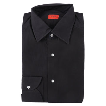 Isaia Modern 'Mix Fit' Black Cotton Dress Shirt - Top Shelf Apparel