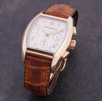 Girard Perregaux 18k Rose Gold Richeville Chronograph Watch Ref. 2765