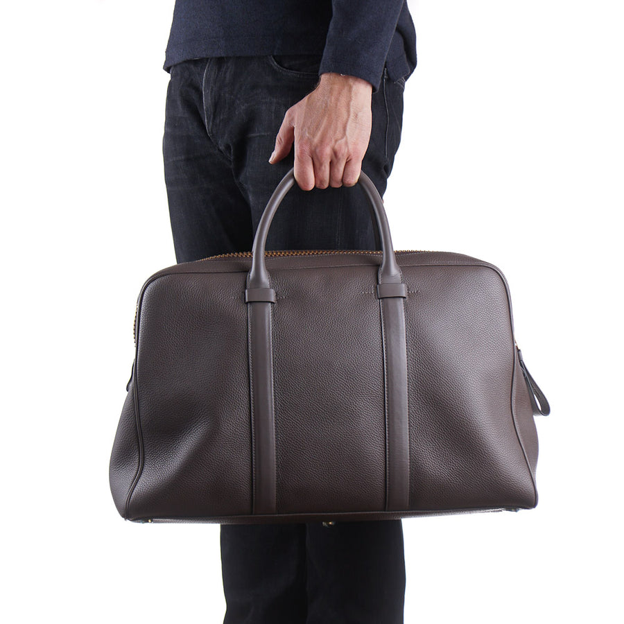 Tom Ford Large Buckley Bag in Gray-Brown
