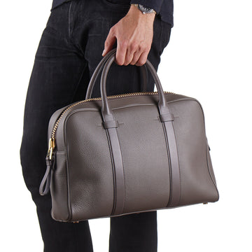 Tom Ford Buckley Briefcase in Gray-Brown