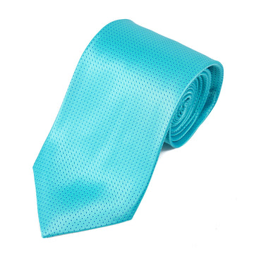 Isaia Aqua Blue Pindot Silk Tie - Top Shelf Apparel