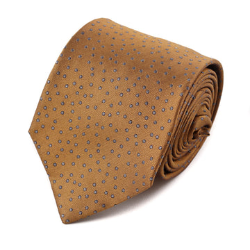 Isaia Bronze and Gray Dot Pattern Tie