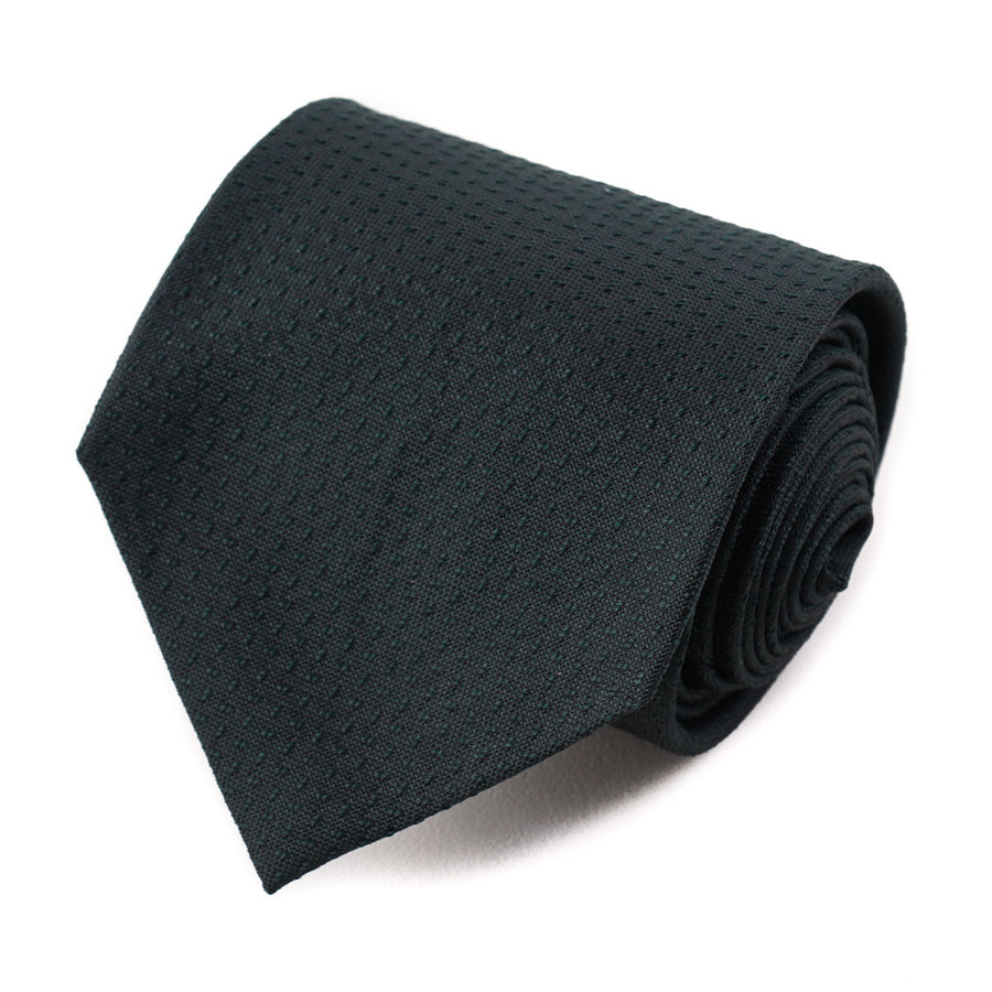 Isaia Forest Green Patterned 7-Fold Silk Tie - Top Shelf Apparel