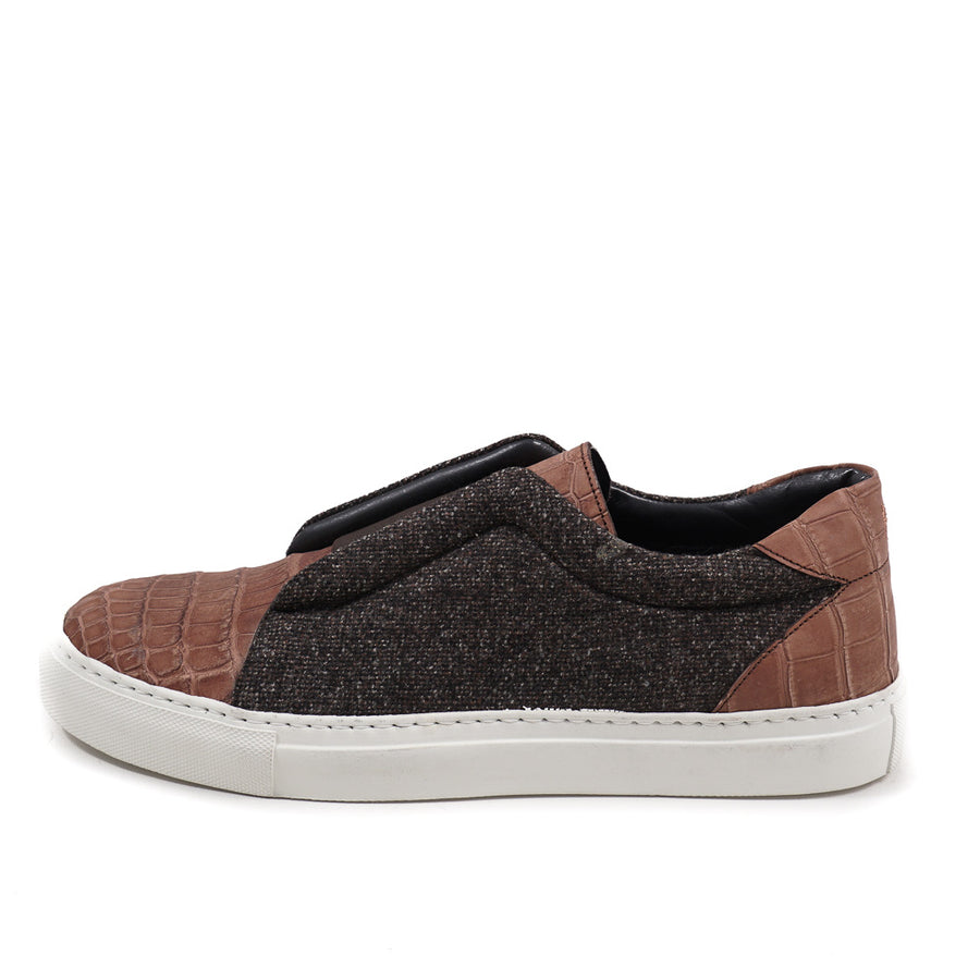 Isaia Crocodile and Cashmere Sneakers