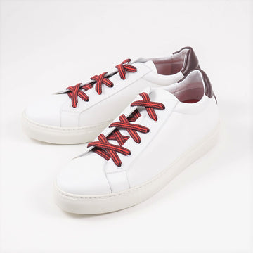 Isaia White Calf Leather Sneakers