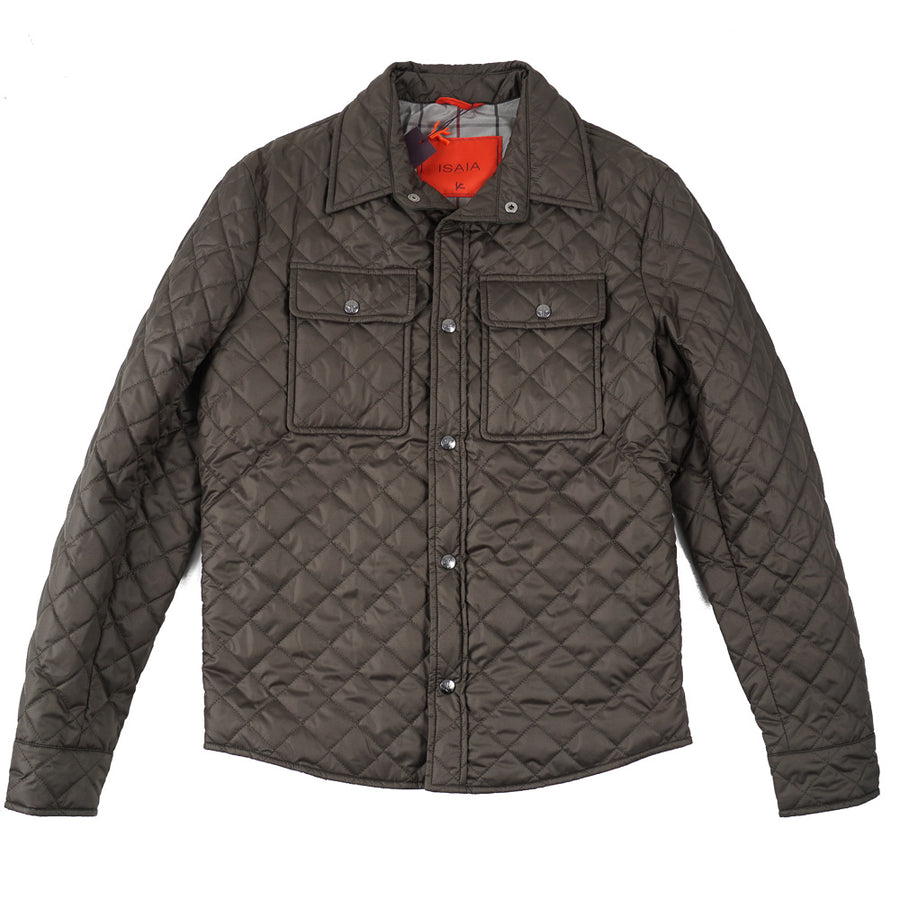Isaia Quilted Puffer Shirt-Jacket