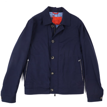 Isaia Super 200s Wool Flight Jacket