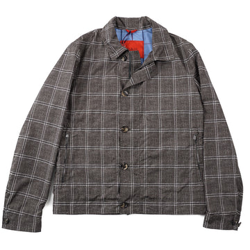 Isaia Lightweight Printed Flight Jacket