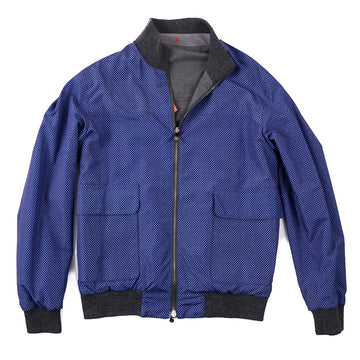 Isaia Reversible Wool Bomber Jacket