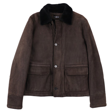 Kiton Shearling Leather Flight Jacket