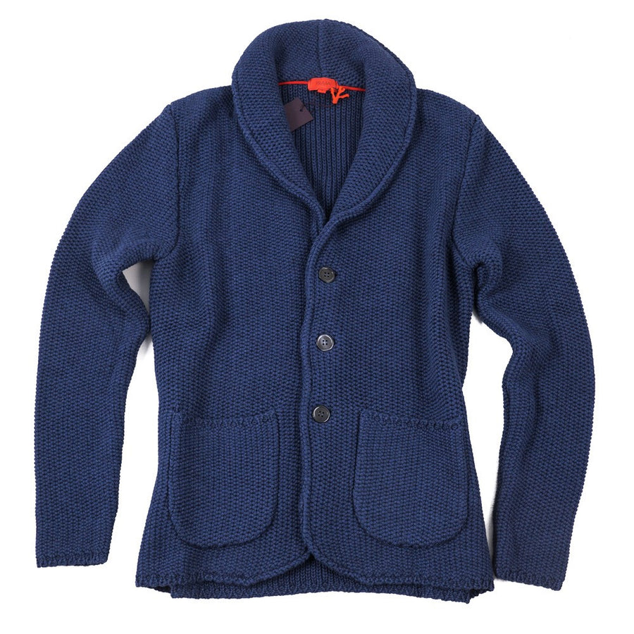 Isaia Cotton-Cashmere Shawl Collar Cardigan