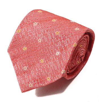 Isaia 7-Fold Floral Jacquard Silk Tie