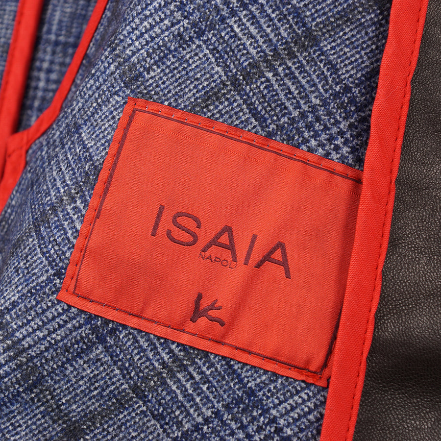 Isaia Wool-Lined Leather Jacket