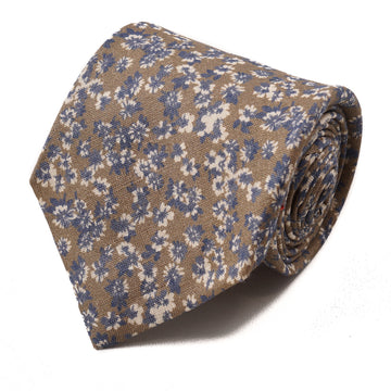 Isaia 7-Fold Floral Linen Tie