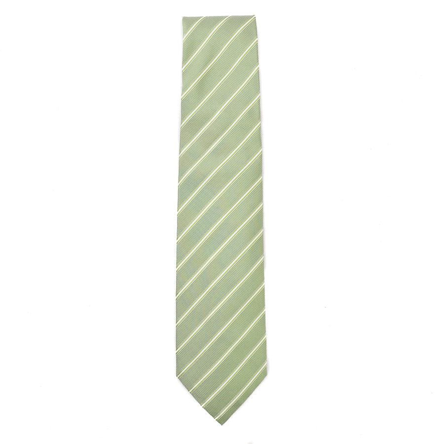 Isaia 7-Fold Ribbon Stripe Silk Tie