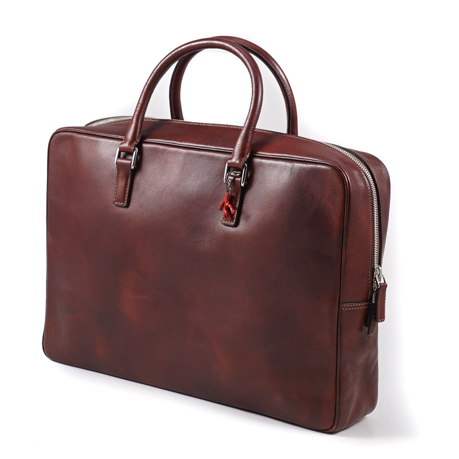 Isaia Antiqued Leather Briefcase - Top Shelf Apparel