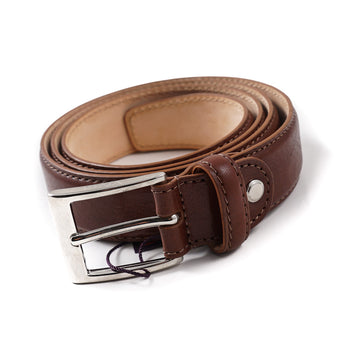 Isaia Brown Calf Leather Belt